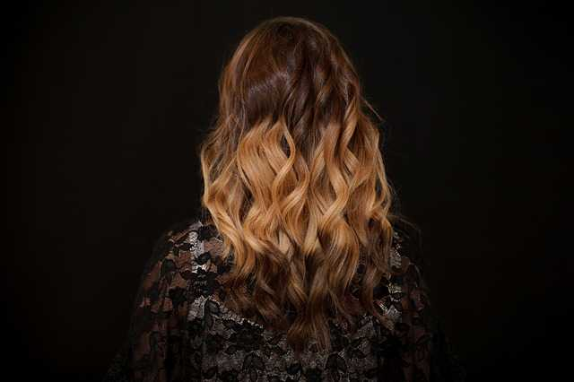 light golden curly hair