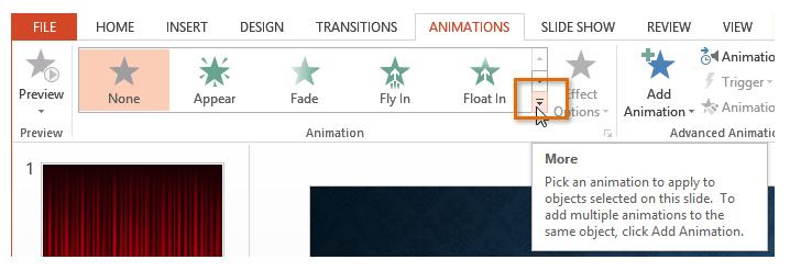 Insert Animation in PowerPoint Slides